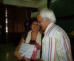 Homenaje a profesores de Periodismo en la UCLV.