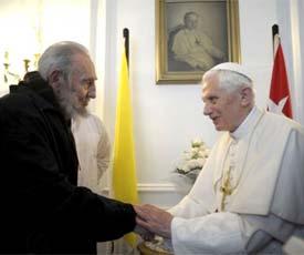 Se reunió Fidel con el Papa.